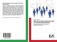 Couverture de Role of financial communication in business performances