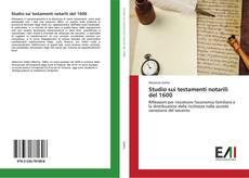 Обложка Studio sui testamenti notarili del 1600