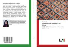 "Bookcover of Il ""continuum genocida"" in Africa"
