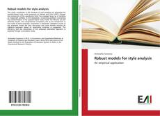 Bookcover of Robust models for style analysis