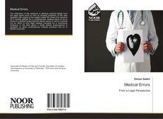 Bookcover of Medical Errors