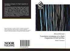 Bookcover of Translation strategies of in-flight magazines of Gulf airlines