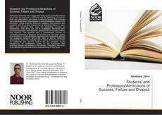 Capa do livro de Students' and Professors'Attributions of Success, Failure and Dropout
