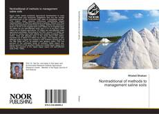 Bookcover of Nontraditional of methods to management saline soils
