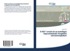 Capa do livro de A HO-1 enzim és az autofágia kapcsolatának vizsgálata szívizomsejteken