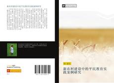 Bookcover of 新农村建设中的平民教育实践案例研究