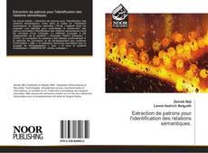 Buchcover von Extraction de patrons pour l'identification des relations sémantiques.