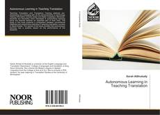 Copertina di Autonomous Learning in Teaching Translation