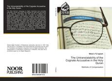 Borítókép a  The Untranslatability of the Cognate Accusative in the Holy Quran - hoz