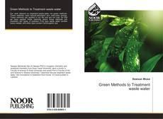 Buchcover von Green Methods to Treatment waste water