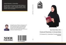 Bookcover of Cultural Diversity in Universities