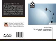 Copertina di The Relevance Theory View of Phatic Communication