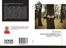 """Capa do livro de MOULOUD MAMMERI """"De la légende à l'histoire """""""