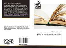 Portada del libro de Syntax of Iraqi Arabic and English