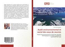 Portada del libro de Audit environnemental et social des eaux de sources