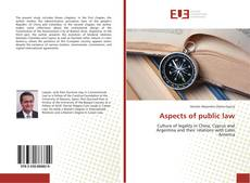 Bookcover of Aspects of public law