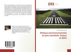 Capa do livro de Ethique environnementale et paix mondiale. Enjeux et défis