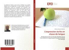 Capa do livro de L'expression écrite en classe de langue