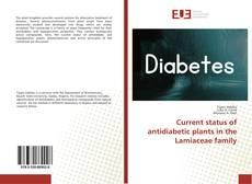 Buchcover von Current status of antidiabetic plants in the Lamiaceae family