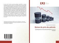 Buchcover von Baisse du prix du pétrole