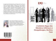 Buchcover von L'ischémie Aigue des Membres Inférieurs à Ouagadougou, Burkina Faso