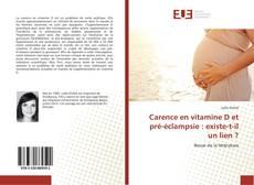 Bookcover of Carence en vitamine D et pré-éclampsie : existe-t-il un lien ?