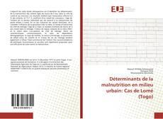 Déterminants de la malnutrition en milieu urbain: Cas de Lomé (Togo)的封面