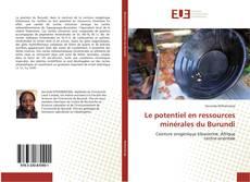 Capa do livro de Le potentiel en ressources minérales du Burundi