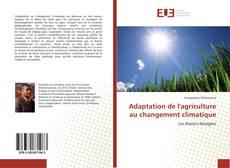 Capa do livro de Adaptation de l'agriculture au changement climatique