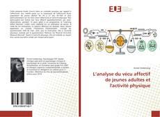 Capa do livro de L'analyse du vécu affectif de jeunes adultes et l'activité physique