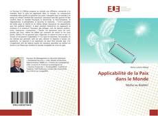 Applicabilité de la Paix dans le Monde kitap kapağı
