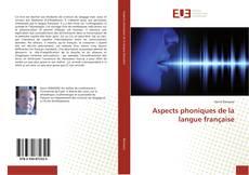 Обложка Aspects phoniques de la langue française