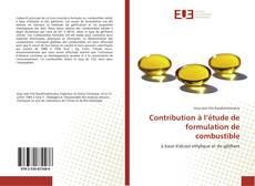 Buchcover von Contribution à l'étude de formulation de combustible