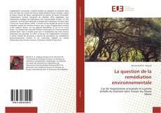 Portada del libro de La question de la remédiation environnementale