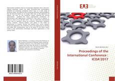 Bookcover of Proceedings of the International Conference : ICOA'2017
