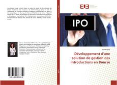 Bookcover of Développement d'une solution de gestion des introductions en Bourse