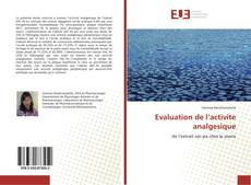 Capa do livro de Evaluation de l'activite analgesique
