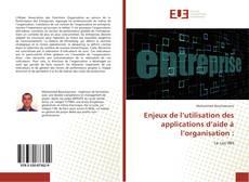 Portada del libro de Enjeux de l'utilisation des applications d'aide à l'organisation :