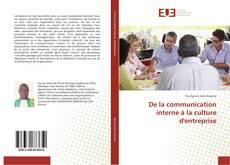 Buchcover von De la communication interne à la culture d'entreprise