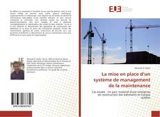 Buchcover von La mise en place d'un système de management de la maintenance
