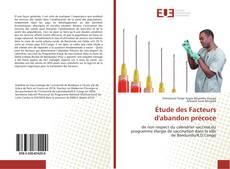 Bookcover of Étude des Facteurs d'abandon précoce