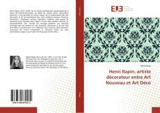 Portada del libro de Henri Rapin, artiste décorateur entre Art Nouveau et Art Déco
