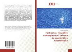 Couverture de Pertinence, faisabilité d'enseignement précoce de la géométrie hyperbolique