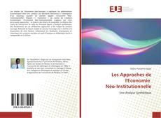 Buchcover von Les Approches de l'Economie Néo-Institutionnelle