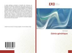 Couverture de Génie génétique