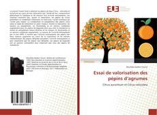 Buchcover von Essai de valorisation des pépins d'agrumes