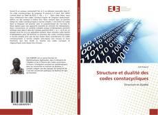 Couverture de Structure et dualité des codes constacycliques