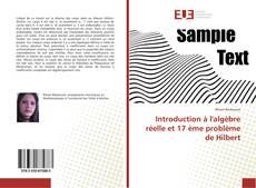 Bookcover of Introduction à l'algèbre réelle et 17 ème problème de Hilbert