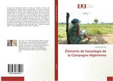 Éléments de Sociologie de la Campagne Algérienne kitap kapağı