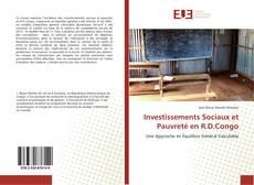 Capa do livro de Investissements Sociaux et Pauvreté en R.D.Congo